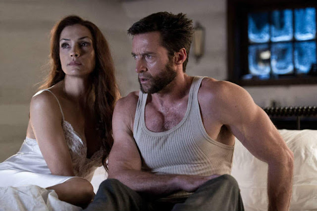 Famke Janssen and Hugh Jackman