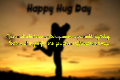 Beautiful Happy Hug Day Message 2017