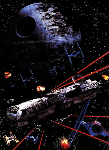 falcon in battle millennium star wars