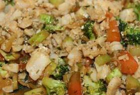 Menkės file salotos su daržovėmis