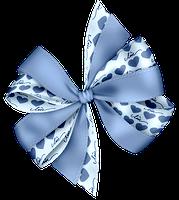 Laço azul de coração