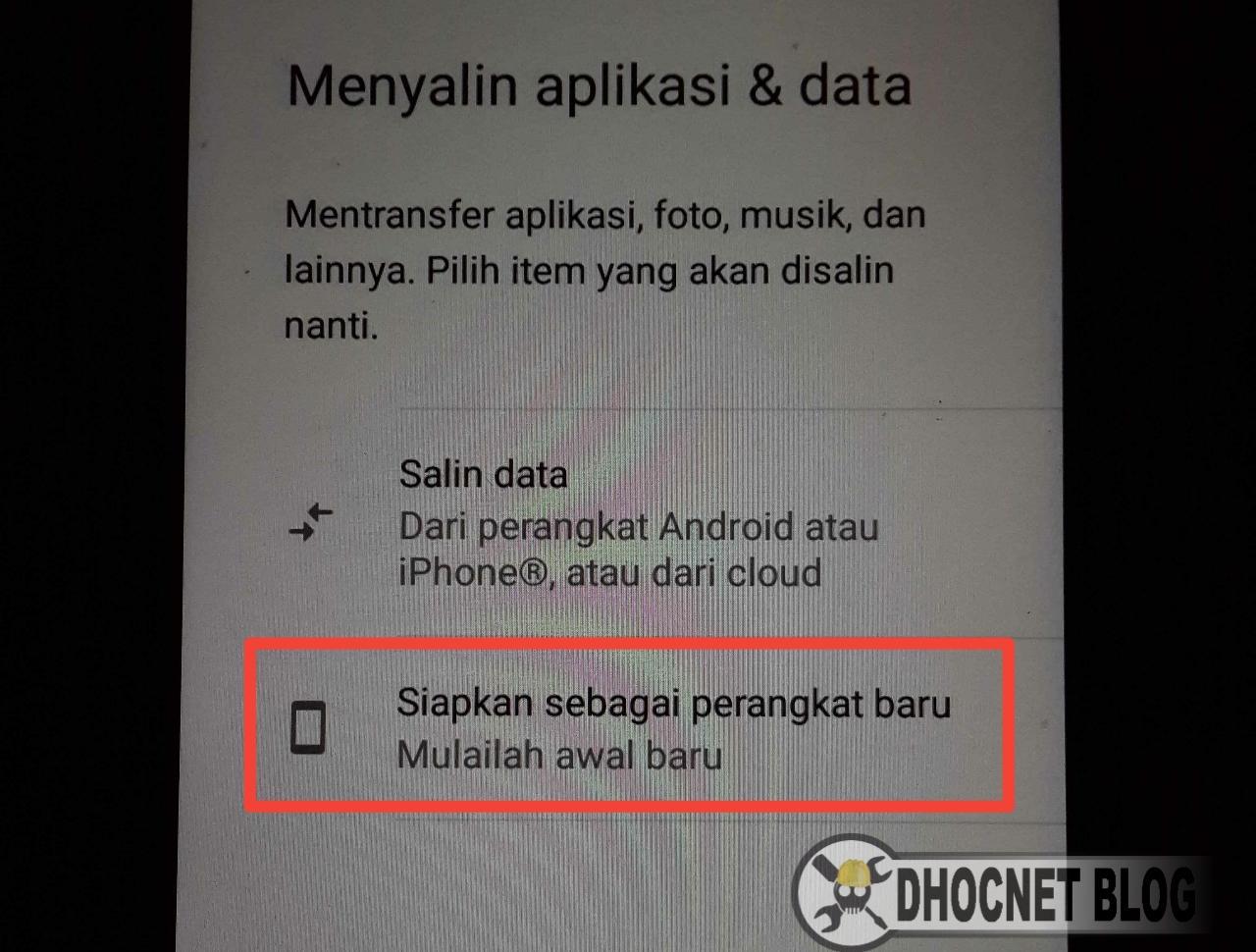 Panduan Seting Android Di Perangkat Baru