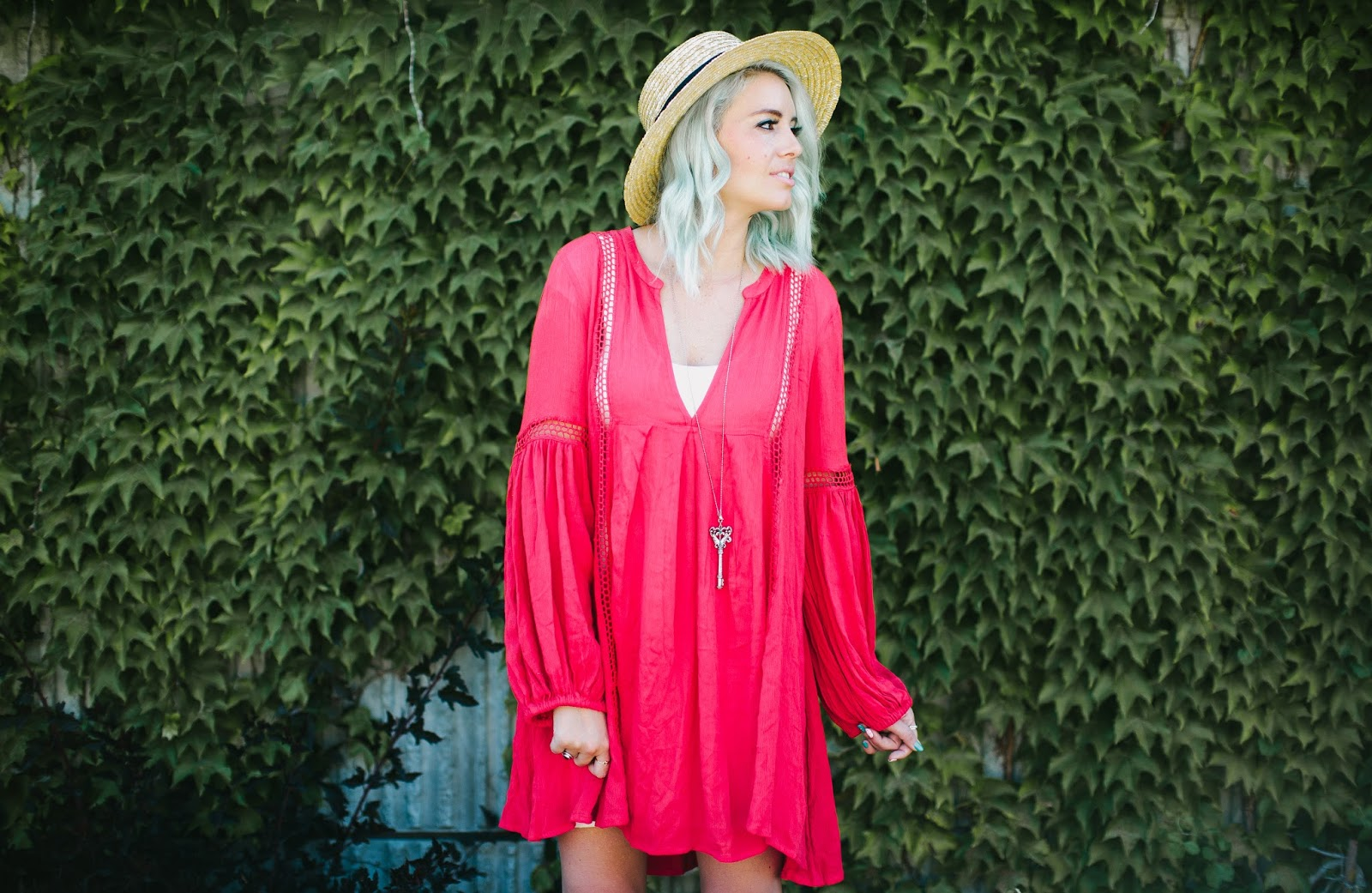 Boho Outfit, Summer Outfit, Red Dress