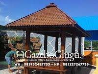 Gazebo Kayu Kelapa Glugu Segi Panjang untuk Pebisnis