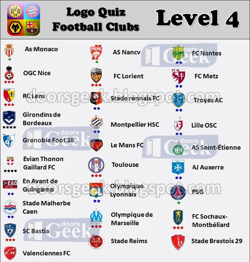 Très Logo Quiz - Soccer Clubs [Level 4 - France] ~ Doors Geek ZZ51