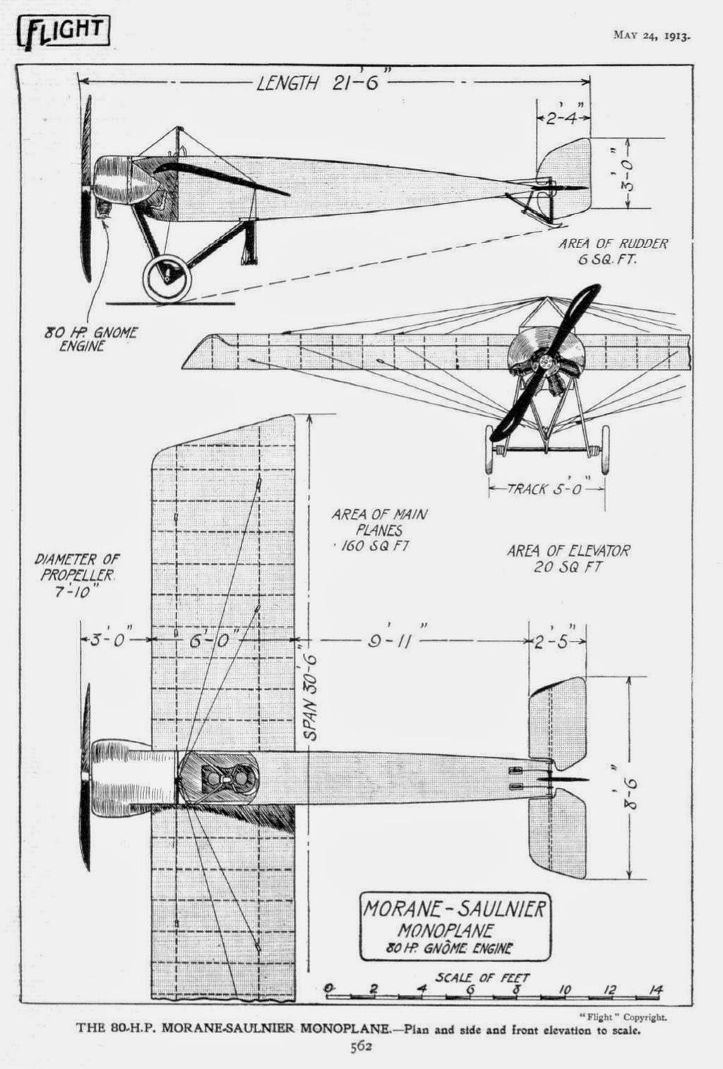 Fly Aeroplane Le Morane Saulnier Type H