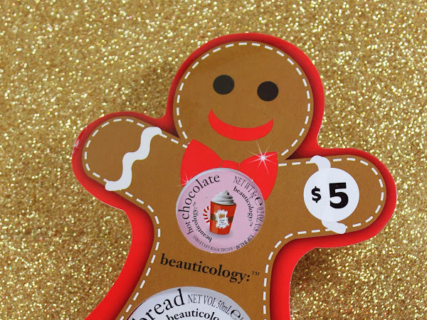 Beauticology Gingerbread Man Duo Gift Set - Hot Chocolate Lip Balm and Sweet Gingerbread Body Butter Photos & Review