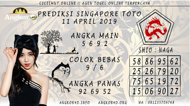 Prediksi Angka Jitu SINGAPORE TOTO 11 APRIL 2019