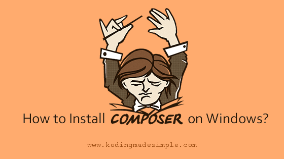 install composer on windows xampp