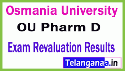Osmania University Pharm D Revaluation Results