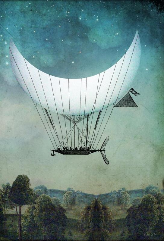 12-The-Moon-Ship-Catrin-Welz-Stein-Collages-of-Illustrations-and-Photographs-Resulting-in-Surrealism