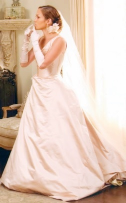Mother's Tan Wedding Dress for July
