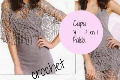 Capa y Falda Crochet. 2 en 1