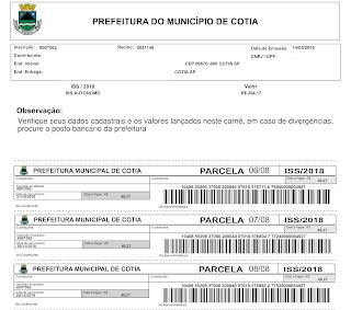 Prefeitura de Cotia deixa de emitir carnês de impostos