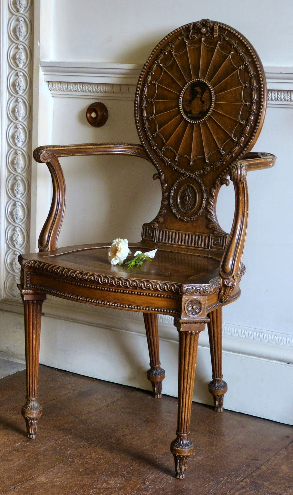 The Chippendale chairs in the Top Hall