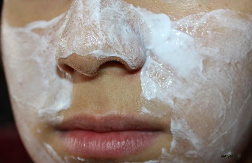 test visage Masque apaisant hydratant