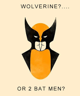 wolverine or two bat men, wolverine batman