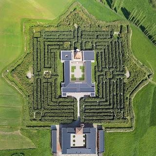 labirinto vista alto piantina
