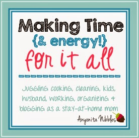 Making time and energy for it all: a look at a day in the life of a stay at home mum from www.anyonita-nibbles.com