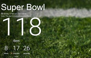 Super Bowl 2017 Countdown - Best Clocks to Track Countdown