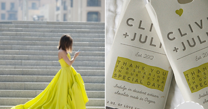 Modern Day Cinderella | Chartreuse and Gray