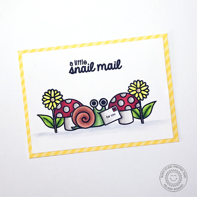 Sunny Studio: Backyard Bugs Snail Mail Card by Melissa Bowden.