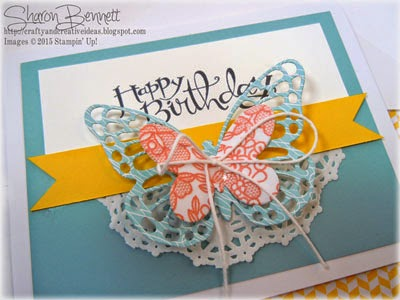 Stampin Up Butterly Framelits Card