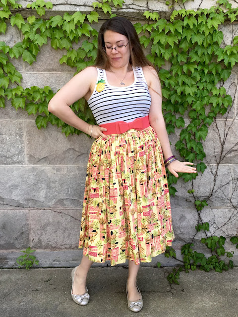 pinup girl clothing tiki jenny skirt