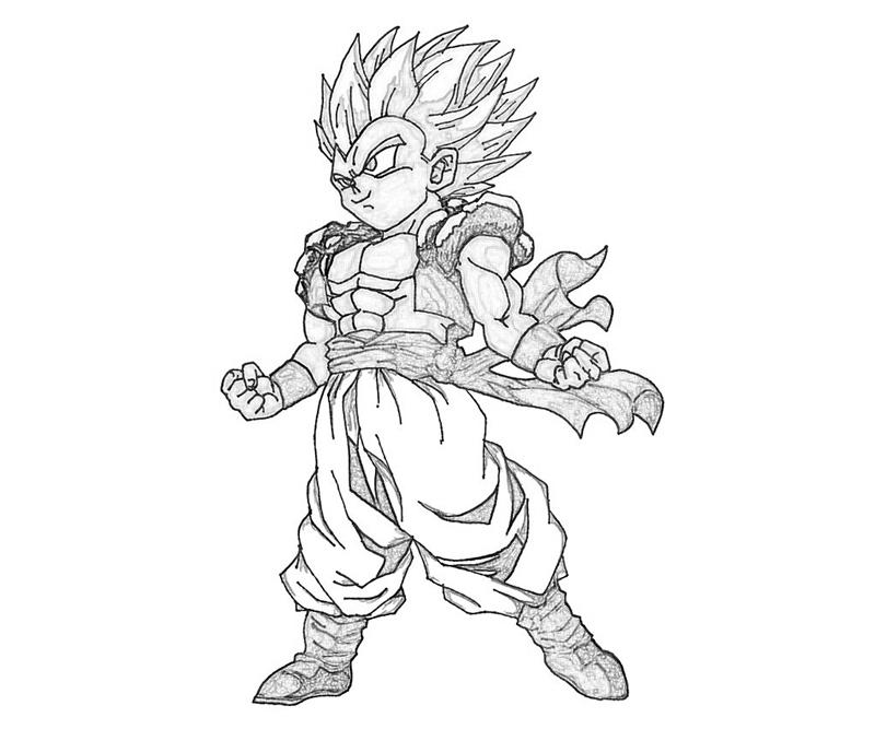 goten coloring pages - photo#25