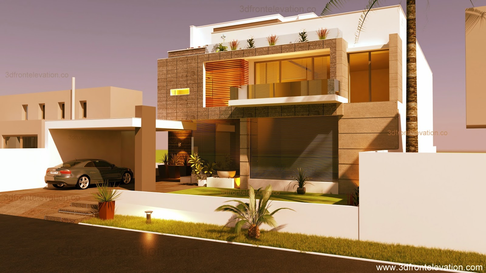 3D Front Elevation.com: Beautiful Modern Contemporary