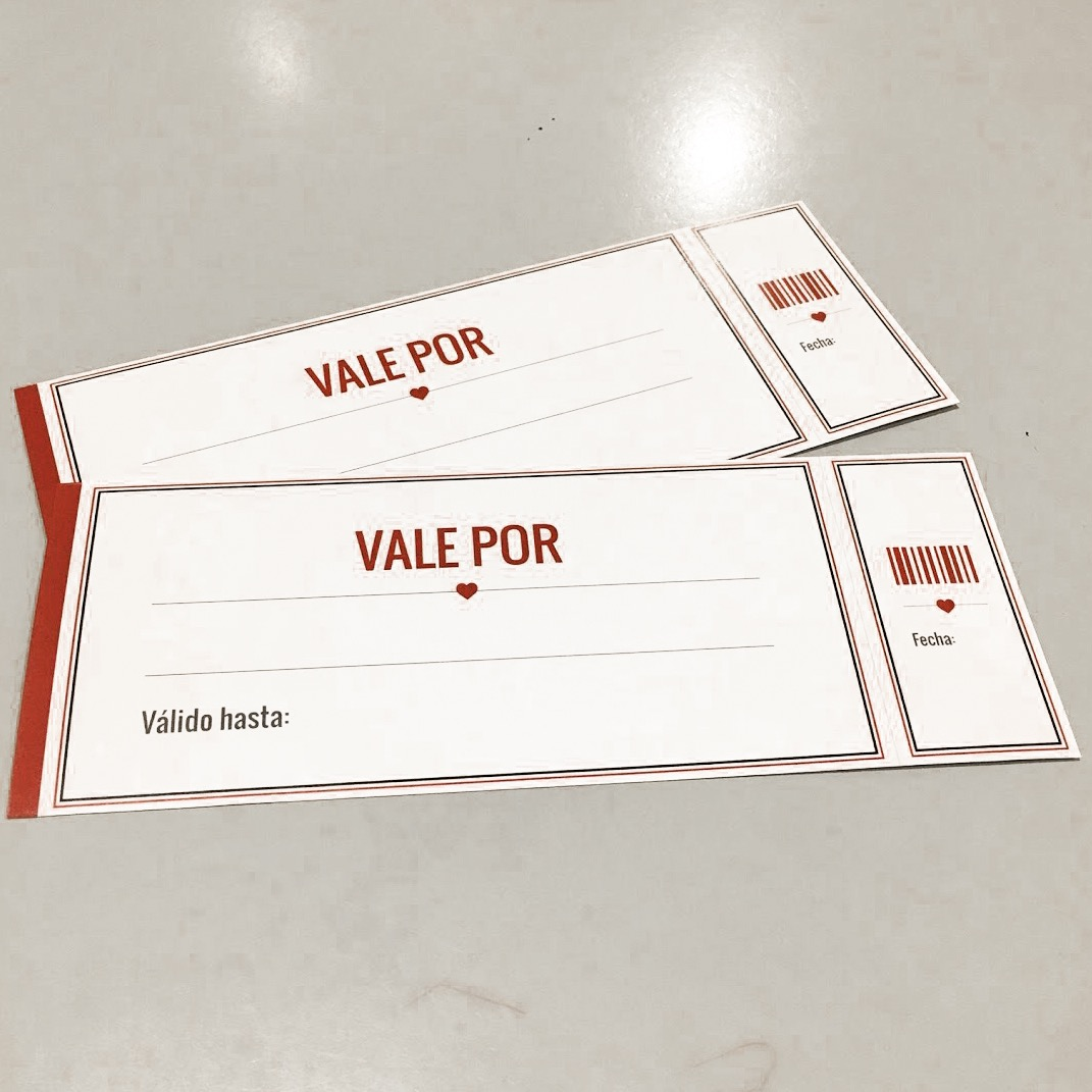 Vales De Amor Descargables Personalizables Cupones Para Tu Pareja Para San Valentín The Optimistic Side