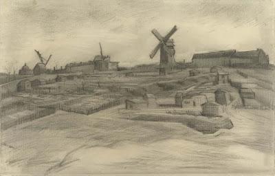 Vincent Van Gogh - The hill of Montmartre,mars 1886.