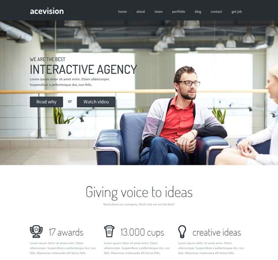 Best business consulting website templates free premium 2016 acevision one page consulting html template wajeb Image collections