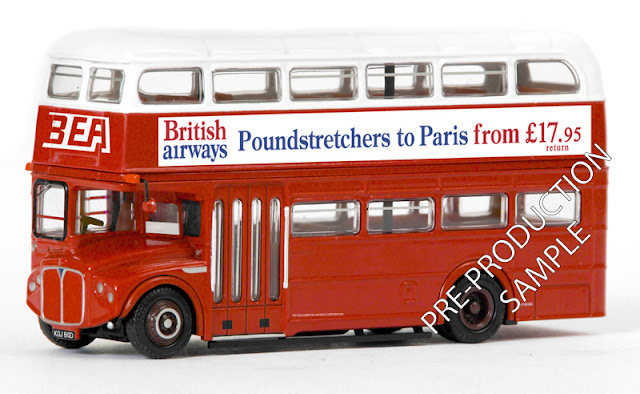 Exclusive First Editions: 31808 - RMA Routemaster - BEA Registration number KGJ 610D. Scheduled for an April release RRP £34.50