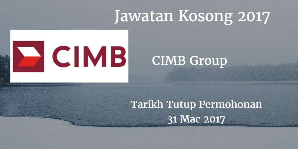 Jawatan Kosong CIMB Group 31 Mac 2017
