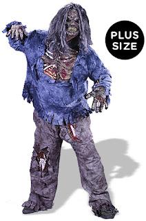 Complete Zombie Adult Plus Costume - Black - Plus for Halloween
