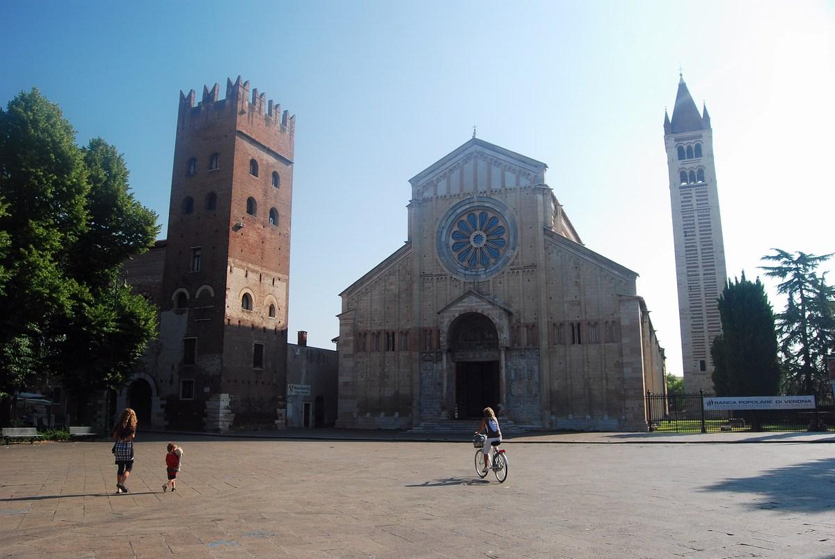 façade de la basilique San Zeno