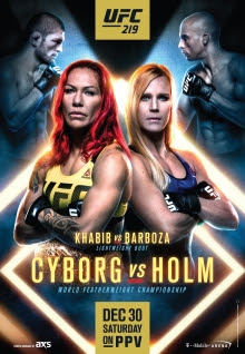 Review of UFC 219 pay-per-view Cyborg vs Holm