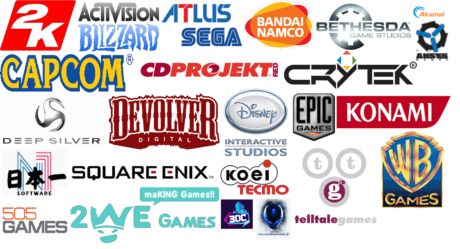 Wolfathon Top 25 All Time Favourite Video Game Developers