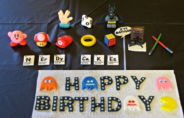 Nerdy Thirty Cake - Fondant Decorations Only