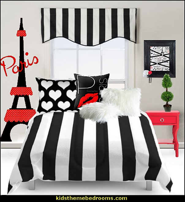 paris black red bedroom decor ideas paris bedroom ideas