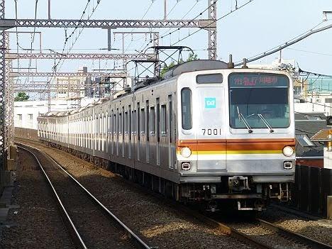 【ダイヤ改正後に廃車へ】東京メトロ7000系  急行 川越市行き