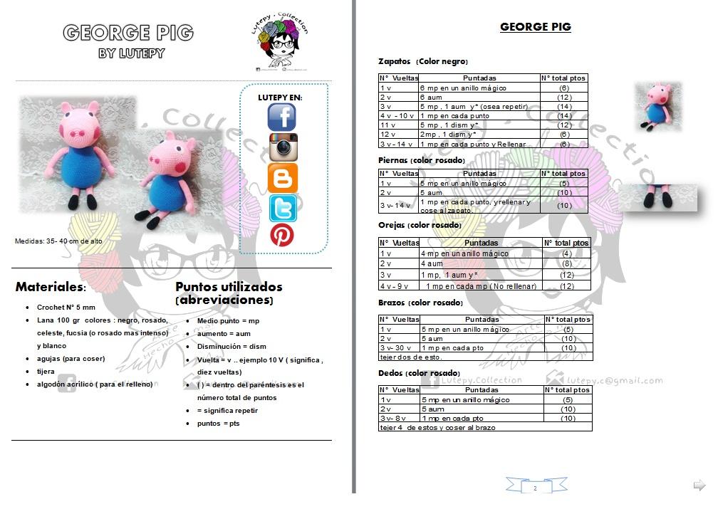 Peppa Pig | Lanas y Ovillos | 722x1008