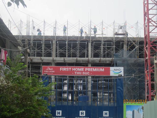 Tiến độ công Trình First home Thủ Đức