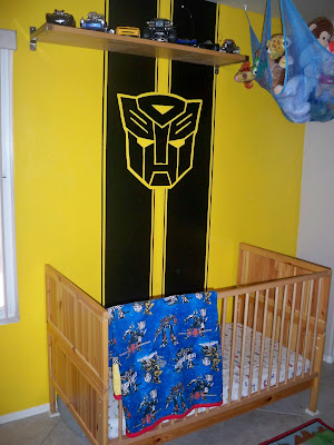 Heather  Jon Transformers Little Boys Bedroom