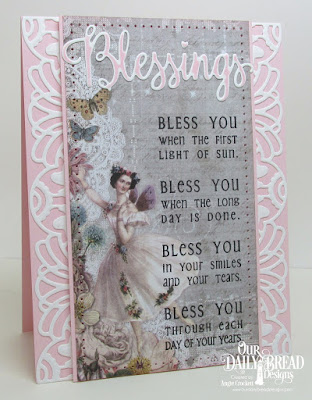 ODBD Many Blessings Stamp/Die Duos, ODBD Custom Art Deco Die, ODBD Prayer Bookmarks, Card Designer Angie Crockett