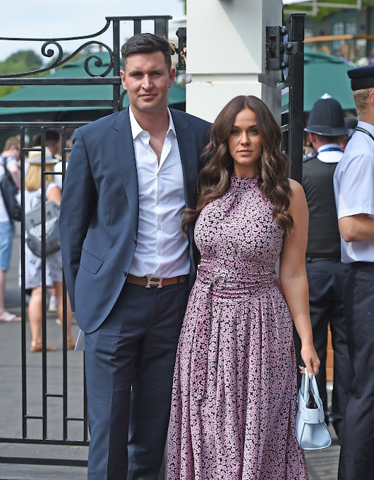 Full HD Wallpapers: Vicky Pattison And John Noble Arrives At Wimbledon Tennis Tournament In London