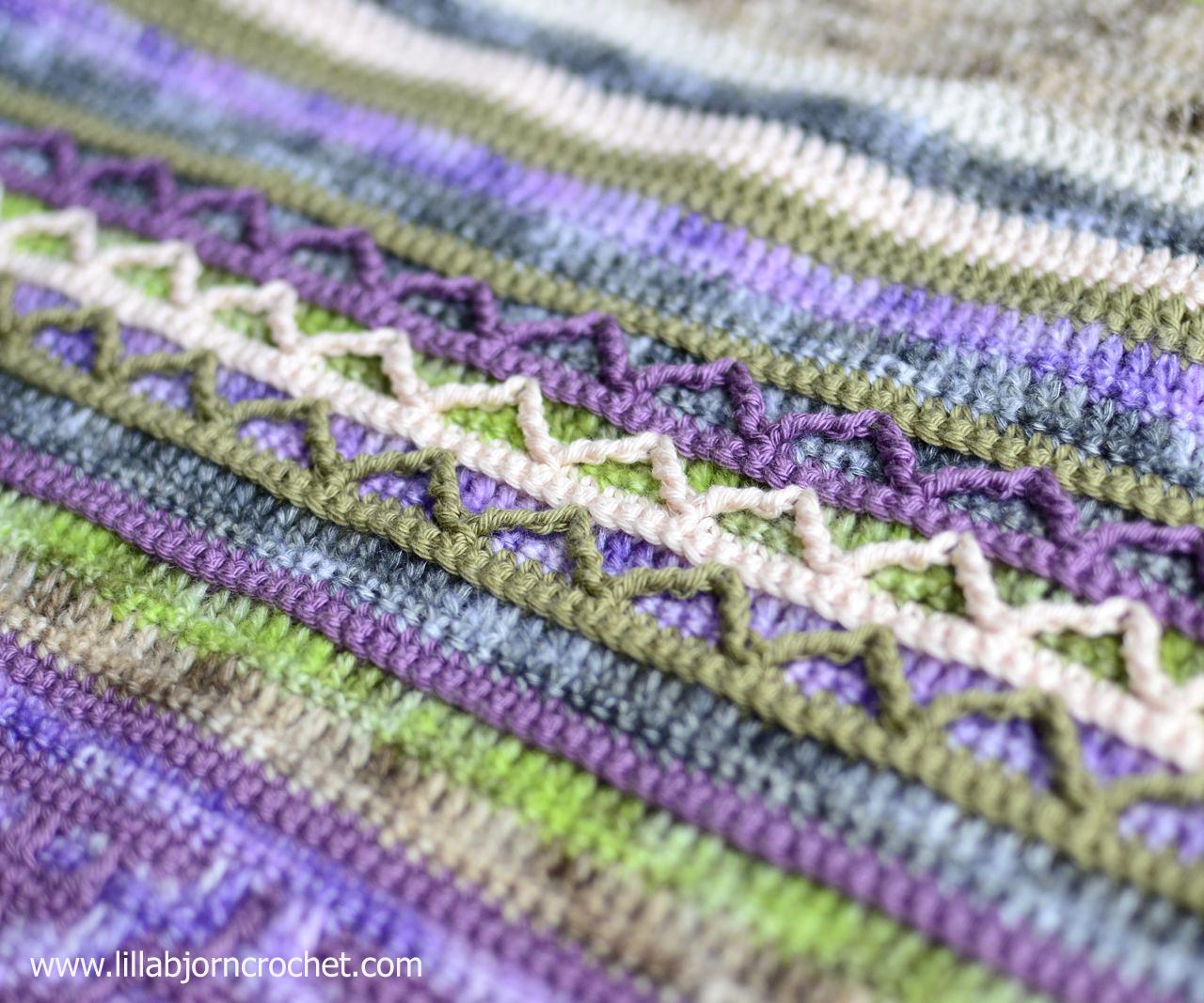 Spirits of Life CAL by www.lillabjorncrochet.com. Free crochet wrap pattern