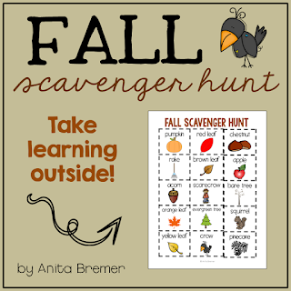 FREE signs of Fall scavenger hunt outdoor activity