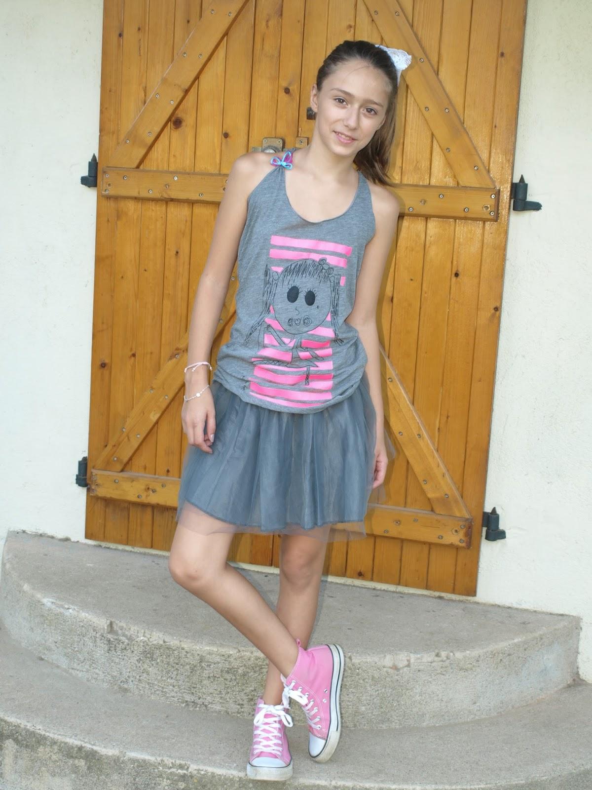 En Gris Y Flúor Con Kiddy Mini Model By Laura